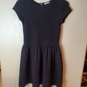 Kimchi Blue Black Crochet Fit Flare Goth Dress